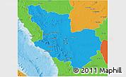 Political 3D Map of Madinah