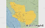 Savanna Style 3D Map of Madinah