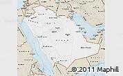 Classic Style Map of Saudi Arabia