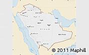Classic Style Map of Saudi Arabia, single color outside