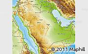 Physical Map of Saudi Arabia