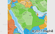 Political Shades Map of Saudi Arabia