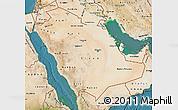 Satellite Map of Saudi Arabia