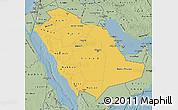 Savanna Style Map of Saudi Arabia