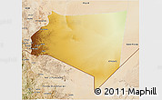 Physical 3D Map of Najran, satellite outside