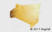 Physical 3D Map of Najran, single color outside