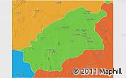 Political 3D Map of Quassim