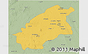 Savanna Style 3D Map of Quassim