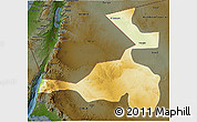 Physical 3D Map of Quray Yat, darken