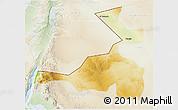 Physical 3D Map of Quray Yat, lighten
