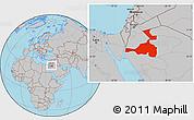 Gray Location Map of Quray Yat