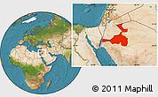 Satellite Location Map of Quray Yat