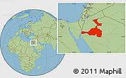 Savanna Style Location Map of Quray Yat