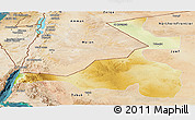 Physical Panoramic Map of Quray Yat, satellite outside