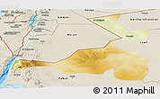 Physical Panoramic Map of Quray Yat, shaded relief outside