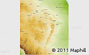 Physical 3D Map of Riyad