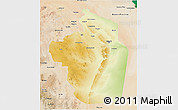 Physical 3D Map of Riyad, satellite outside