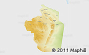 Physical 3D Map of Riyad, single color outside