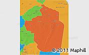 Political 3D Map of Riyad