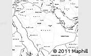 Blank Simple Map of Saudi Arabia