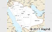 Classic Style Simple Map of Saudi Arabia