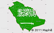 Flag Simple Map of Saudi Arabia