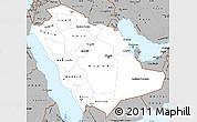 Gray Simple Map of Saudi Arabia