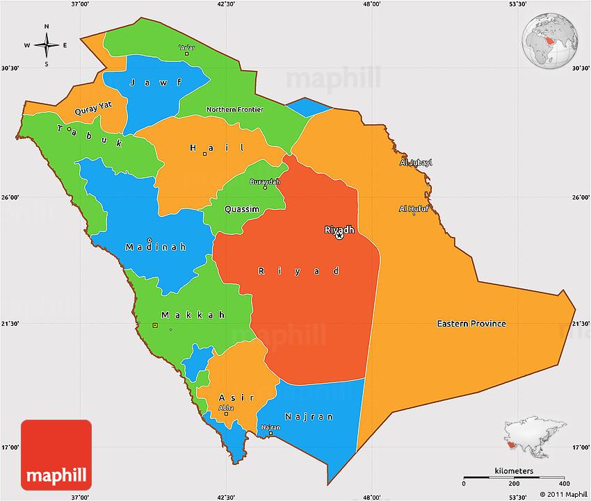 Political Simple Map of Saudi Arabia, cropped outside on united arab emirates map, afghanistan map, algeria map, bahrain map, brazil map, kuwait map, iran map, oman map, russia map, india map, malaysia map, libya map, morocco map, great britain map, tanzania map, lebanon map, japan map, sudan map, jordan map, dubai map,