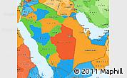 Political Simple Map of Saudi Arabia, political shades outside