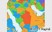 Political Simple Map of Saudi Arabia