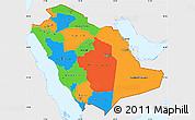 Political Simple Map of Saudi Arabia, single color outside