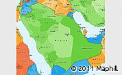 Political Shades Simple Map of Saudi Arabia