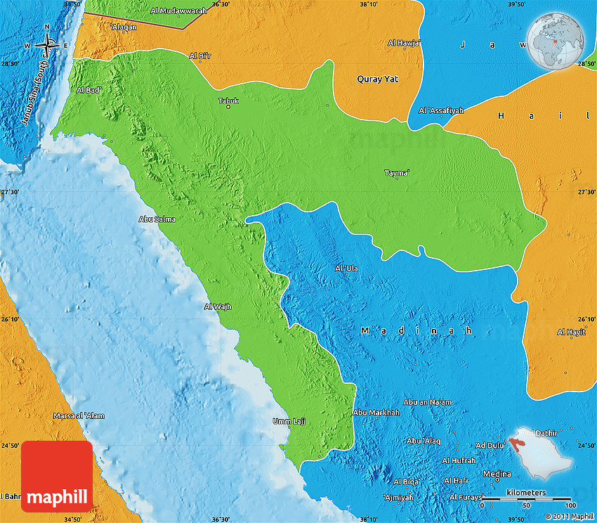 Political Map of Tabuk