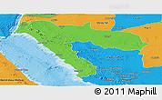 Political Panoramic Map of Tabuk