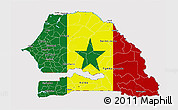 Flag 3D Map of Senegal