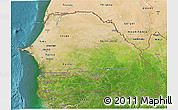 Satellite 3D Map of Senegal