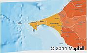 Political Shades 3D Map of Dakar