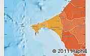 Political Shades Map of Dakar