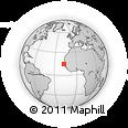 Outline Map of Dakar