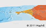 Political Shades Panoramic Map of Dakar