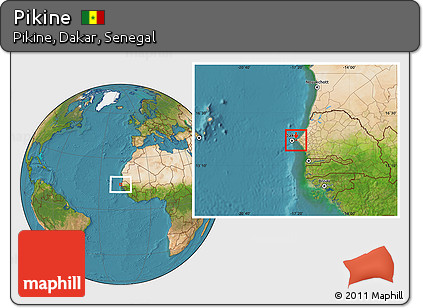 Free Satellite Location Map Of Pikine - Pikine map