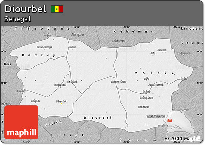 Free Gray Map of Diourbel