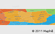Political Shades Panoramic Map of Diourbel