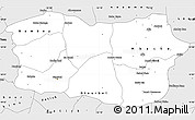 Silver Style Simple Map of Diourbel