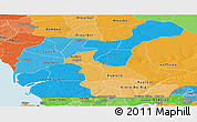 Political Shades Panoramic Map of Fatick