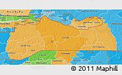 Political Shades 3D Map of Kolda