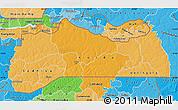 Political Shades Map of Kolda