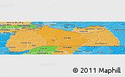 Political Shades Panoramic Map of Kolda