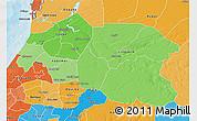 Political Shades 3D Map of Louga