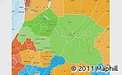 Political Shades Map of Louga